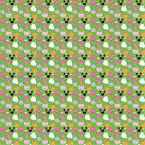 """Litter of Kitties"" - Pattern Vinyl and Heat Transfer Vinyl"
