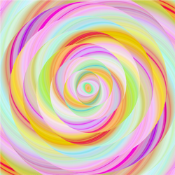 """Lollipop Lemony Swirl"" Permanent Adhesive Vinyl OR Heat Transfer Vinyl"
