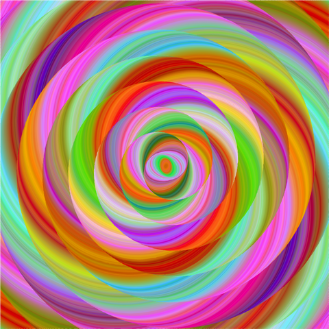 """Lollipop Rainbow Swirl""  Pattern Vinyl and Heat Transfer Vinyl"