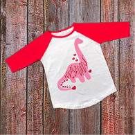 """Lovasaurus"" Valentines - Ready to Press Heat Transfer"