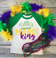 """Mardi Gras King"" - Ready to Press Heat Transfer"