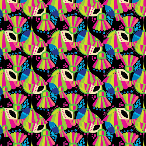 """Masquerade Madness""- Pattern Vinyl and Heat Transfer Vinyl"