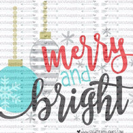 """Merry and Bright"" - Ready to Press Heat Transfers"
