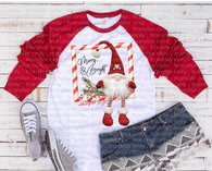 """Merry Christmas Gnome Swing""-Ready to Press Heat Transfer/Sublimation Transfer"
