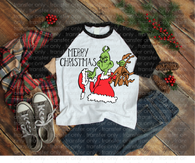 """Merry Christmas Grinch""-Ready to Press Heat Transfer/Sublimation Transfer"