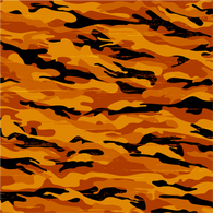 """Orange and Black Camo"" Permanent Adhesive Vinyl OR Heat Transfer Vinyl"