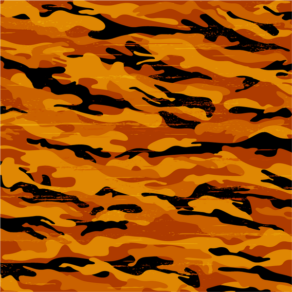 Orange and Black Camouflage Pattern