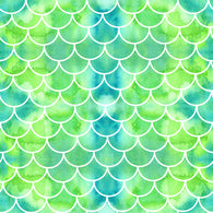 """Mermaid Green Scales"" - Pattern Vinyl and Heat Transfer Vinyl"