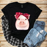 """Piggy with Bandana"" - Ready to Press Heat Transfer"