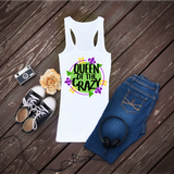 """Queen of Crazy"" - Mardi Gras  Ready to Press Heat Transfer"