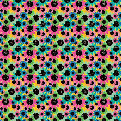 """Rainbow Daisies"" Permanent Adhesive Vinyl and Heat Transfer Vinyl"