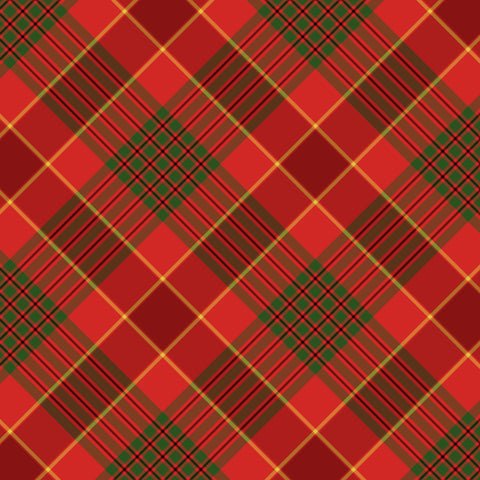 """Red Scarf Plaid "" Permanent Adhesive Vinyl OR Easy Heat Transfer Vinyl"
