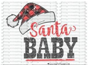 """Santa Baby"" - Ready to Press Heat Transfers"