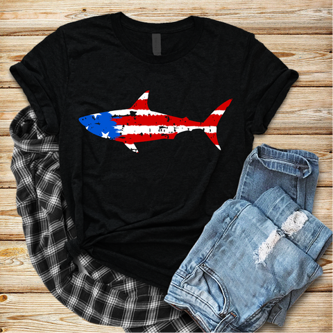 """Shark USA"" - Ready to Press Heat Transfer"