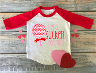 """Sucker for You PInk Hearts"" Valentines - Ready to Press Heat Transfer"