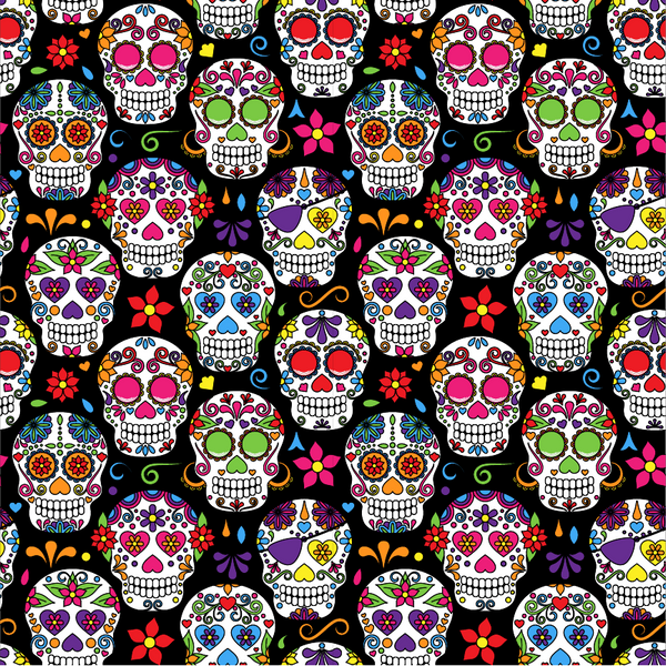 """Sugar Skull Black"" Permanent Adhesive Vinyl OR  Heat Transfer Vinyl"