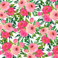 """Sweet Smelling Roses"" - Adhesive Pattern Vinyl and Heat Transfer Vinyl Sheets"