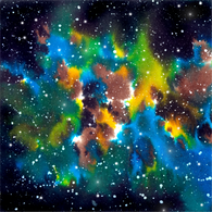 """Tye Dye Galaxy"" - Pattern Vinyl and Heat Transfer Vinyl"