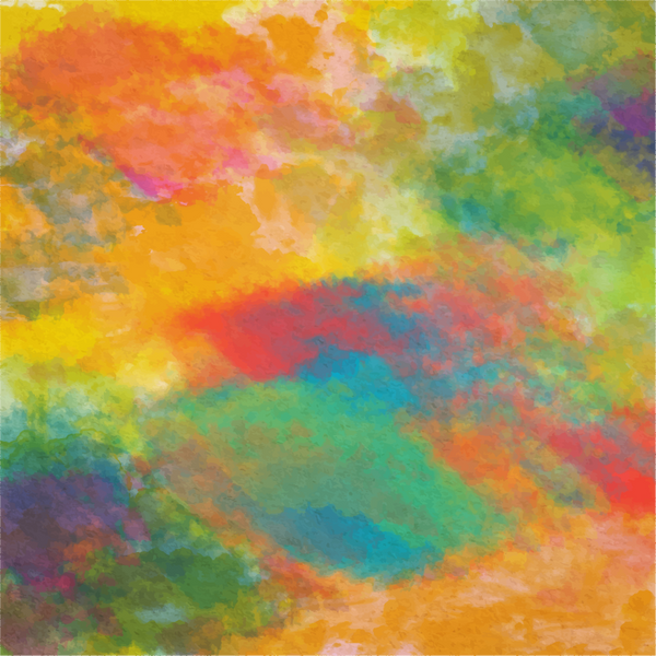""" Watercolor Rainbow"" - Adhesive Pattern Vinyl and Heat Transfer Vinyl Sheets"