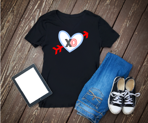 """XOXO Heart"" Valentines - Ready to Press Heat Transfer"