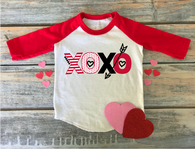 """XOXO Red"" Valentines - Ready to Press Heat Transfer"