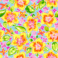 """Yellow Sweet Flowers"" Heat Transfer Vinyl Sheets and Permanent Craft Vinyl Sheets"