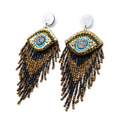 Evil Eye Earrings Shine Design and Shop at the Wynwood Shop