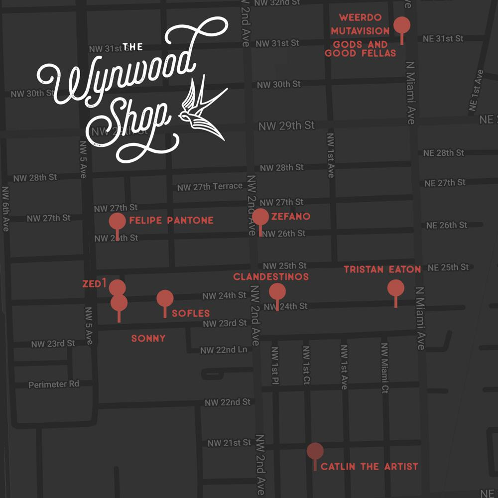 Wynwood Best Murals Map by Wynwood Shop