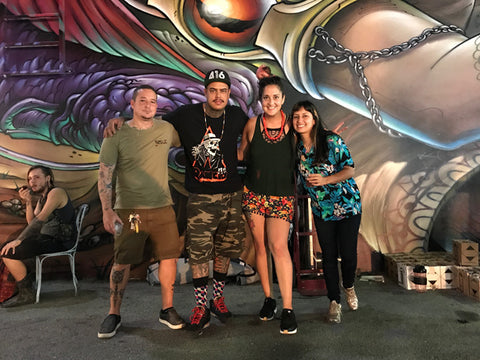 Wynwood Shop Owners Diana and Felipe With Clandestinos, Bruno Smoky and Shalak Attack