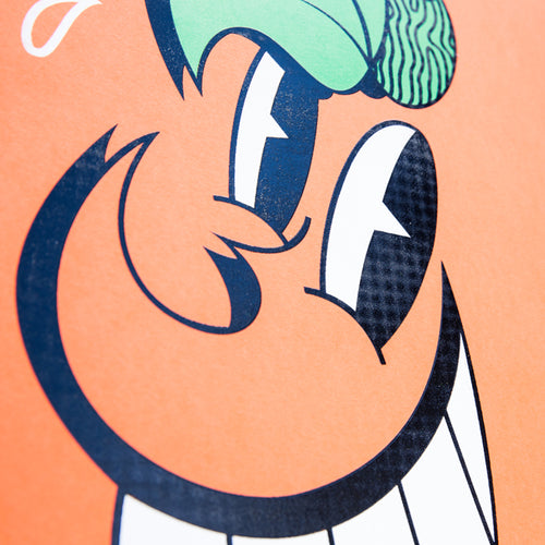 Atomiko Orange Face Limited Print Signed - Wynwood Shop