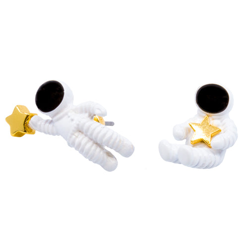 Wynwood Shop's Astronaut Stud Earrings Hypoallergenic Nickel Free Enamel Coated