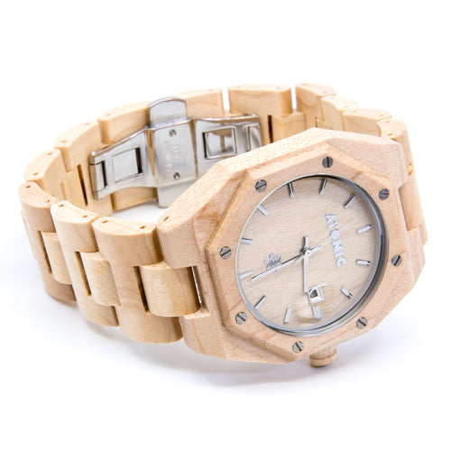 Men's Bamboo Watch with Screws - Wynwood Shop