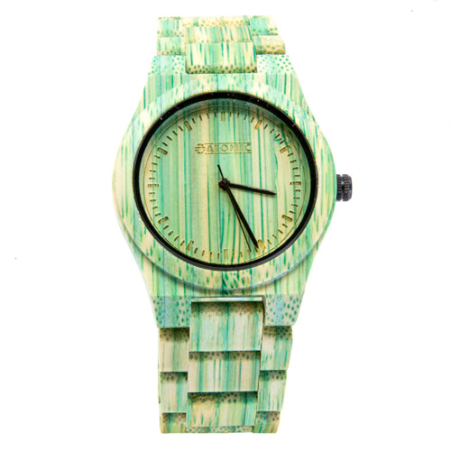 Atomic Green Bamboo Watch from the Wynwood Shop