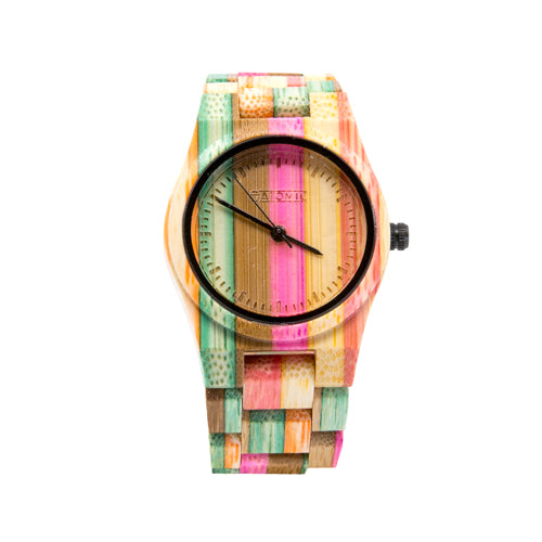 Atomic Multi-Color Bamboo Watch from the Wynwood Shop