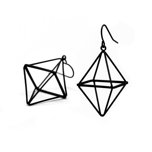 Black Diamond Earrings (Small) - Wynwood Shop
