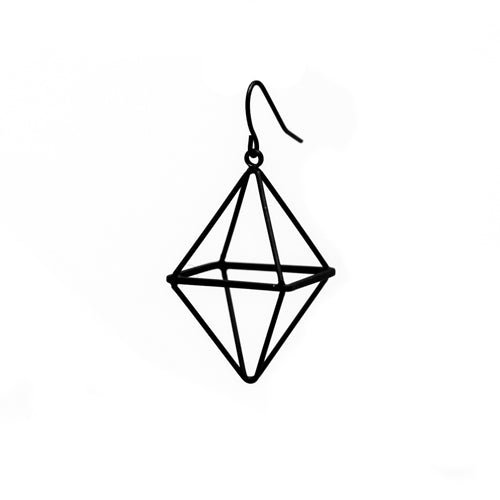 Geometry Black Diamond Small Earrings from Wynwood Shop