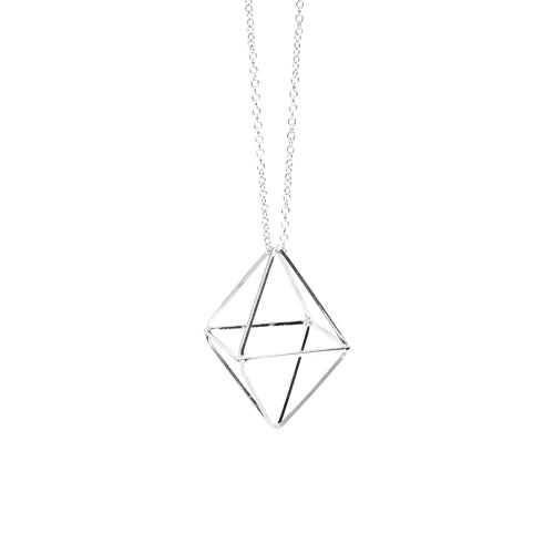 Geometry Silver Diamond Necklace from Wynwood Shop