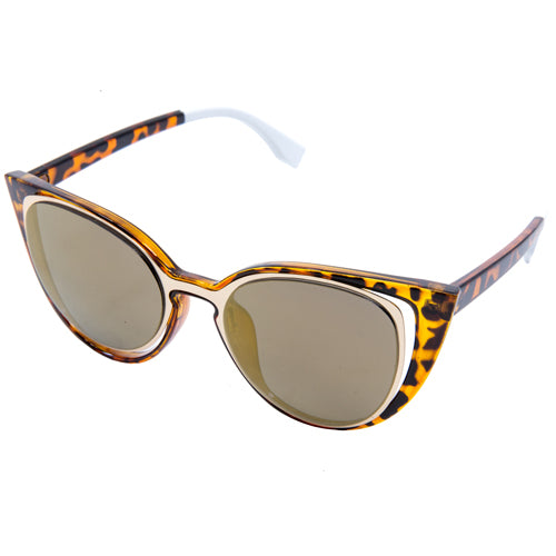 Atomic Fancy Cat-Eyed Mirrored Sunglasses from Wynwood Shop