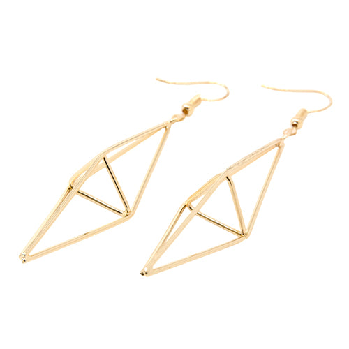 Geometry Long Gold Diamond Earrings from the Wynwood Shop