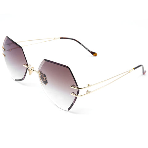 Round Steampunk Mirrored Sunglasses