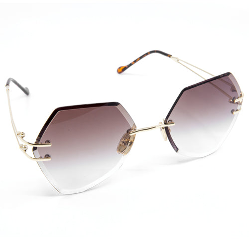 Atomic Hexagonal Frameless Sunglasses from Wynwood Shop