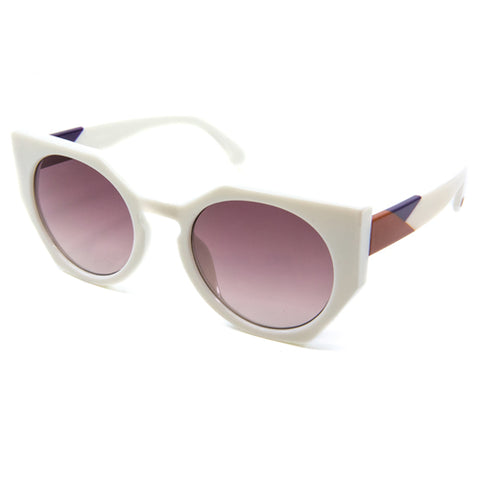 Fancy Cat-Eyed Mirrored Sunglasses