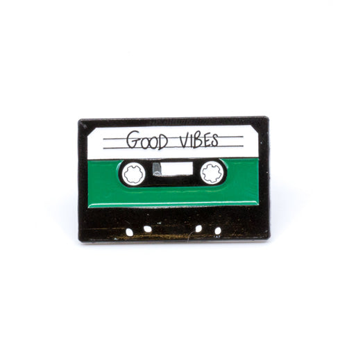 Good Vibes Tape Enamel Pin - Wynwood Shop
