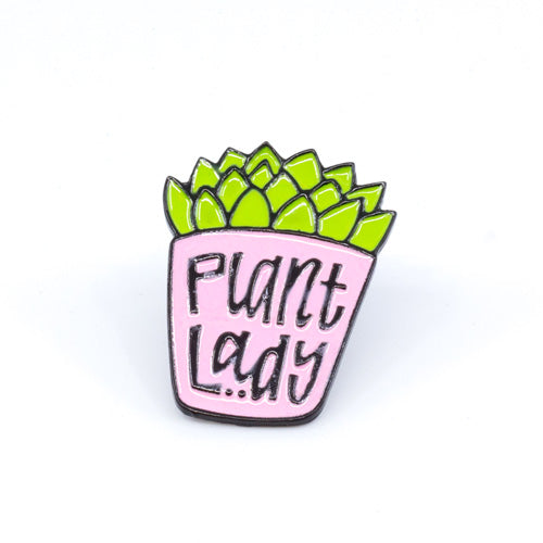 Plant Lady Enamel Pin - Wynwood Shop