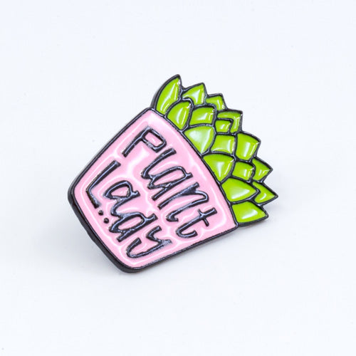 Plant Lady Enamel Pin
