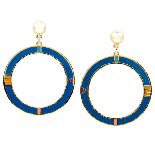 Pop Art Circled Dangle Earrings from the Wynwood Shop