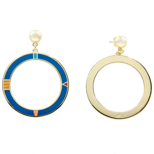 Pop Art Circled Dangle Earrings - Wynwood Shop