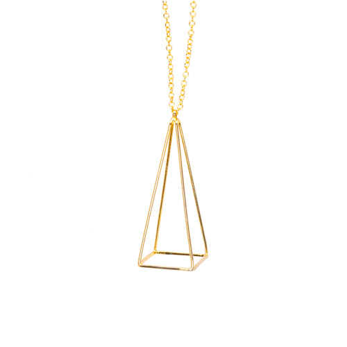 Geometry Gold Pyramid Necklace from Wynwood Shop