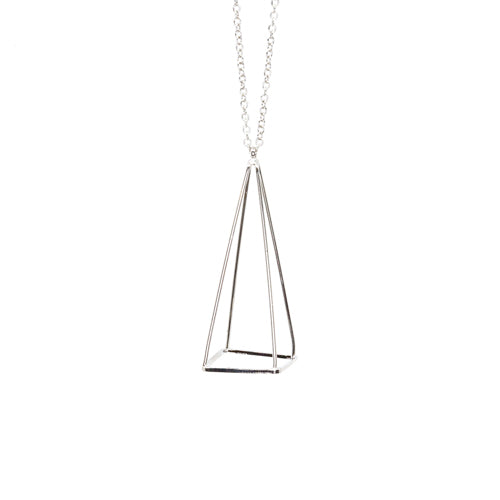 Geometry Silver Pyramid Necklace from the Wynwood Shop