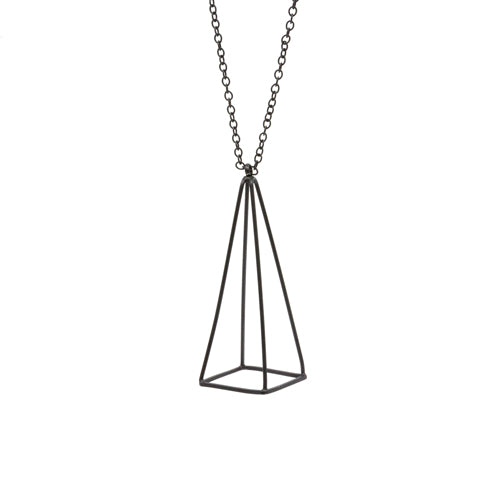 Geometry Black Pyramid Necklace from the Wynwood Shop